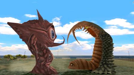 奥特曼格斗游戏:奇兽眼Q使用体内吸收打败双尾怪