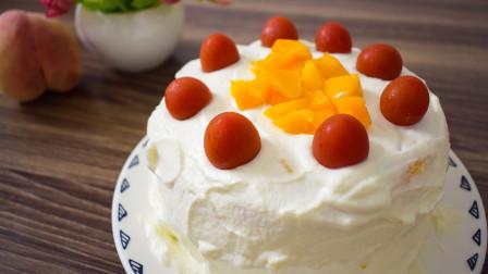 自己做个生日蛋糕,甜度由自己掌控,健康好吃又不腻