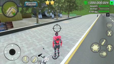 飞天机器人:机器人追击汽车发现汽车消失不见难道汽车穿越了