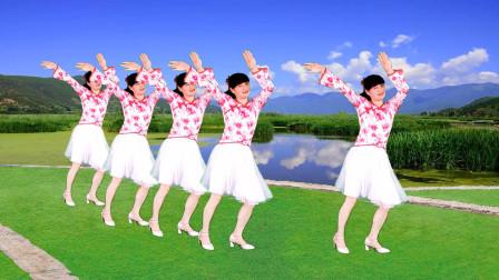 热门广场舞《敬你一碗青稞酒》简单欢快的大众健身舞,分享给你