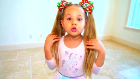 美国儿童时尚,爸爸和萌娃一起为圣诞节准备礼物,真有趣啊