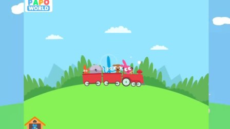 泡泡兔森林旅行 小兔驾驶胡萝卜车运送礼物 亲子早教
