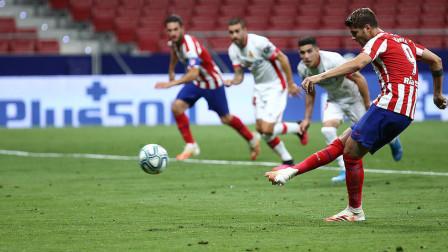 西甲马竞对阵马略卡比赛集锦,莫拉塔点球重罚梅开二度!
