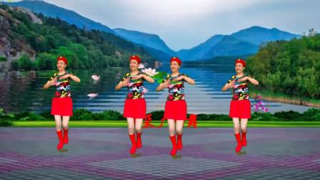 高安迷采广场舞 水兵舞热门舞曲《泉水叮咚响》广场舞 老歌新跳
