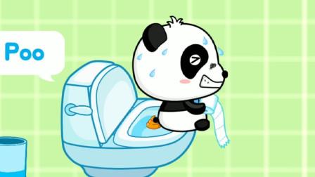 齐齐自己学习如何上厕所~宝宝巴士游戏