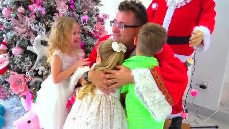 美国儿童时尚,爸爸和萌娃一起为圣诞节准备礼物,真可爱呀