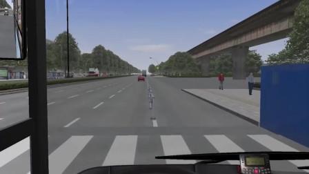 巴士模拟2 开车分神险撞护栏