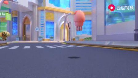 猪猪侠:迷糊博士手拿炸弹,大摇大摆走在市区,将守卫都引来了!