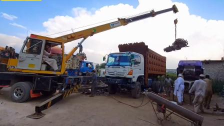 巴铁工人将日产UD卡车改成自卸车,改好之后发现装潢比家里还豪华