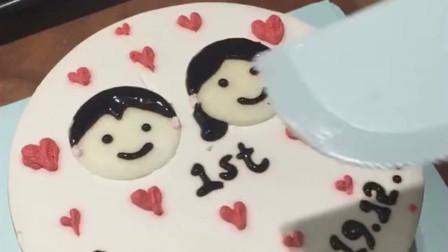 这可以一周年的蛋糕,我不能让我们两个的图标分离,只能用这种方法了!