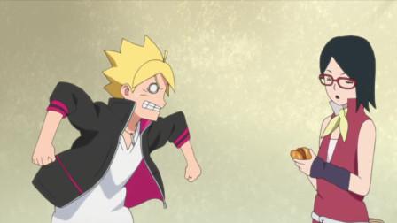 博人传:炒面面包超像黑暗料理!博人却跟女生争抢,先下手为强!