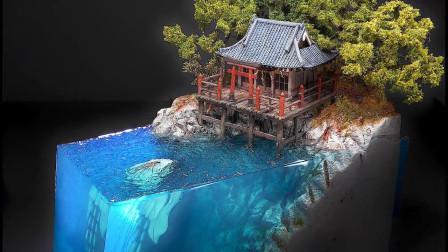 老外用树脂制作一座小庙,制作出来会是什么模样呢?