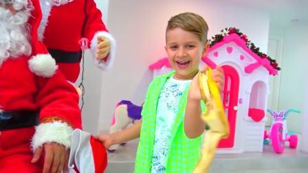 美国儿童时尚,爸爸和萌娃一起为圣诞节准备礼物,发生了什么事?