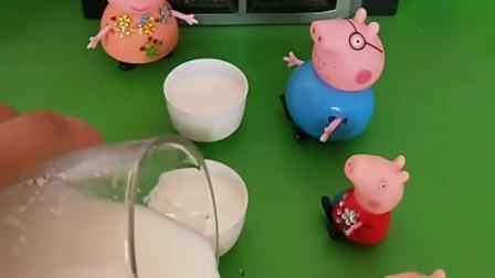 猪妈妈太贤惠了,一大早做了曲奇饼干喝牛奶,这早餐也太丰富了!