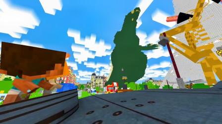 我的世界动画-哥斯拉 VS 汽笛人