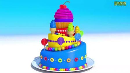 宝宝学英语颜色:纸杯蛋糕和棒棒糖