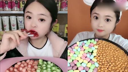 萝莉小姐姐吃播:小熊山楂巧克力糖,一口超过瘾