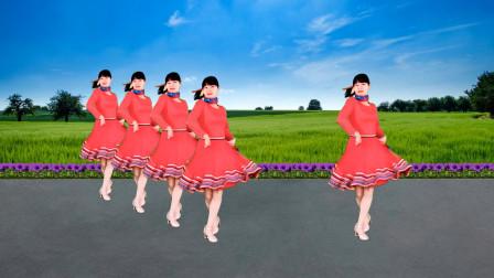 广场舞《火红的萨日朗》醉美民族风,歌嗨舞也美,欢快32步轻松跳