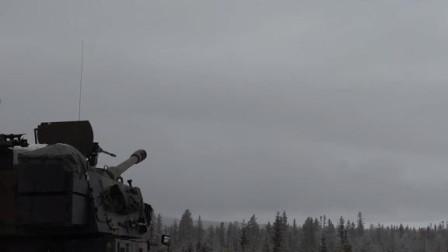 终于买来先进武器了!挪威陆军展示韩国K9自行榴弹炮!