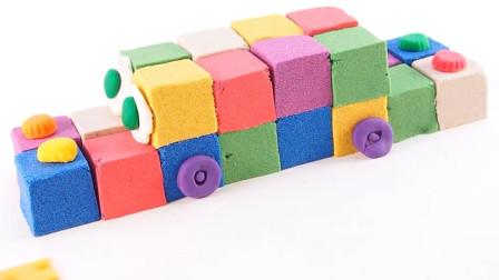 儿童动画雪花彩泥粘土DIY手工制作玩具视频教程大全 彩虹小汽车