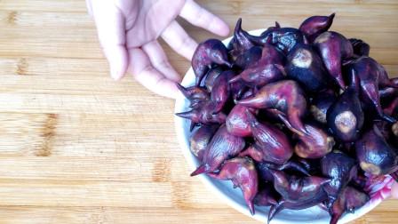 新鲜的菱角不要再煮着吃了,试试这样做,鲜嫩美味出锅孩子抢着吃