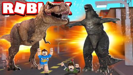 小格解说 Roblox 哥斯拉模拟器:哥斯拉怪兽大战!超多电影怪兽?乐高小游戏