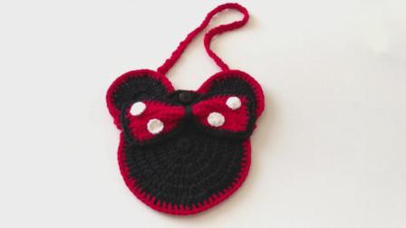 「钩针编织」可爱的米奇斜挎包!图解视频