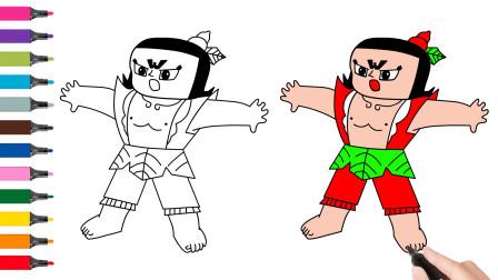怎样画葫芦娃兄弟简笔画卡通绘画宝宝学画画少儿一步一步美术教程动画片