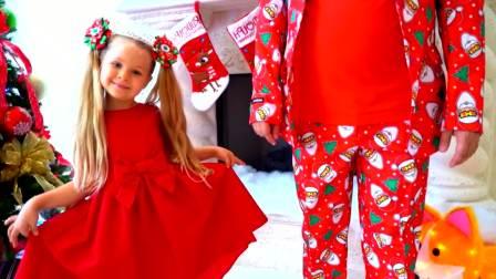 美国儿童时尚,爸爸和萌娃一起为圣诞节准备礼物,和萌宝一起来玩吧!