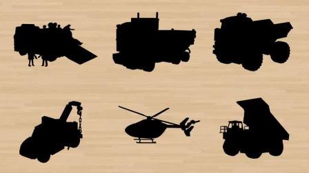 学习认识道路救援车翻斗车 直升机自卸卡车等工程车 鹿鹿玩具乐园