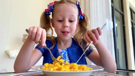 美国儿童时尚, 小萝莉和爸爸做美味冰淇淋,什么样的都有