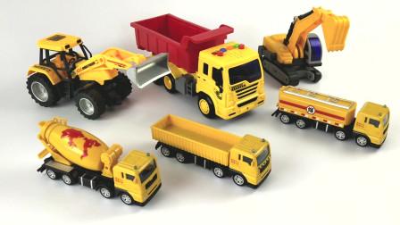 工程车队,挖掘机大卡车推土机油罐车水泥搅拌车油罐车!
