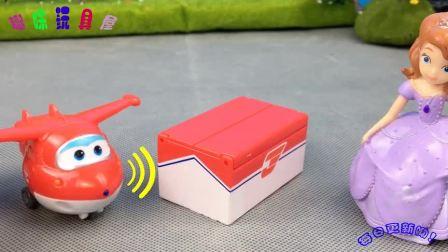 超级飞侠给小公主苏菲亚送快递,和小猪佩奇吃生日蛋糕