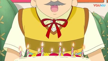 家人给男子过生日,蛋糕上插了这么多蜡烛,吹个蜡烛都费劲