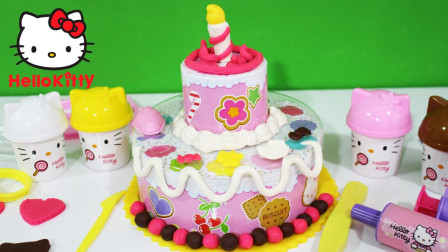 凯蒂猫生日啦!一起帮她制作一个棒棒的蛋糕吧!
