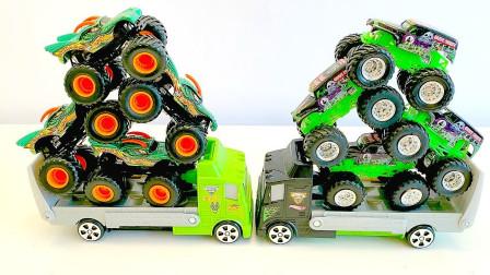 怪物卡车, 掘墓人vs巨龙,怪物堵塞, 热车轮