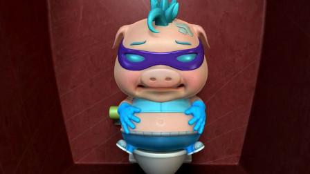 猪猪侠之幸福救援队:波比拉肚子拉出金蛋,你要成世界首富了!