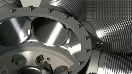 实拍直升飞机发动机的组装过程,难怪那么强劲