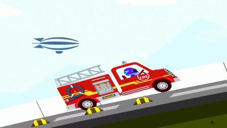 消防车遇到了大滑梯怎么办?伙伴呢?