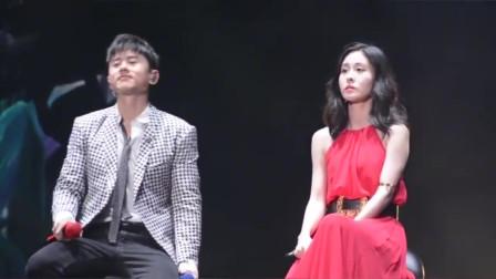 张杰、张碧晨《只要平凡》演唱会现场,张杰的低音太好听了吧!
