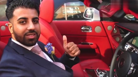 外国人结婚的车队,很多牌子的车数不过来,让人知道羡慕他们。