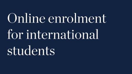 伍伦贡大学2020年春季学期国际学生远程注册指南