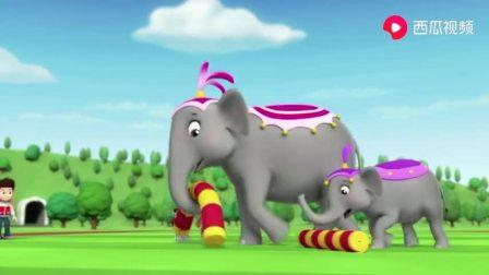 汪汪队:马戏团大象真是厉害,会表演马戏,还会收拾东西