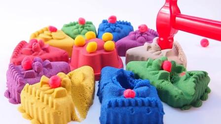 彩虹珍珠蛋糕 儿童动画雪花彩泥粘土DIY手工制作玩具视频教程大全