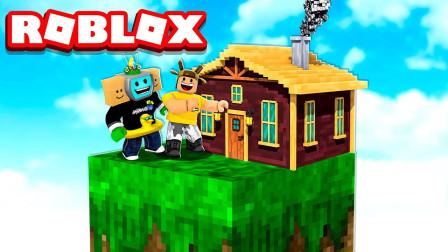阿火解说roblox虚拟世界:空岛生存玩法很有趣,推荐大家试试
