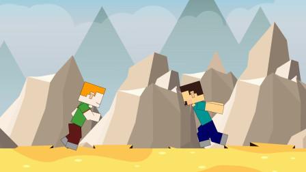 我的世界格斗动画第14集:史蒂夫大战小美实力不分上下