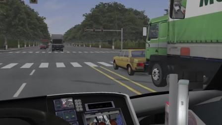 巴士模拟2 小车路口扎堆变道堵死道路 路怒司机逆行冲路口
