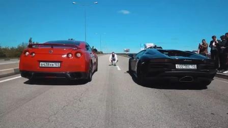 兰博基尼挑战日产GTR