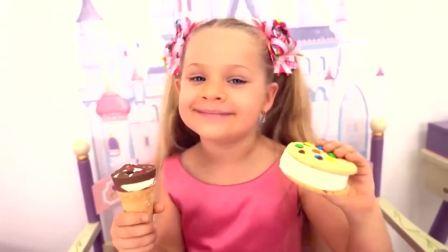 国外少儿时尚,小萝莉和爸爸假装玩卖冰淇淋的游戏,发生了什么事?