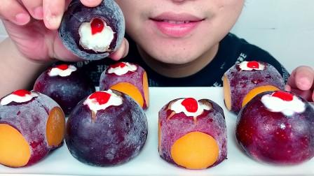 """吃冰冻""""黑布林黑李子""""夹心水果,听不一样的咀嚼音!"""